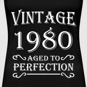 Vintage 1980 - Aged to perfection T-Shirts - Frauen Premium T-Shirt