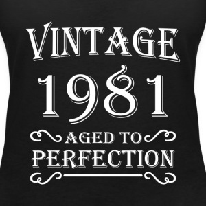 Vintage 1981 - Aged to perfection T-skjorter - T-skjorte med V-utsnitt for kvinner