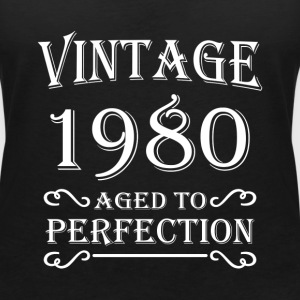 Vintage 1980 - Aged to perfection T-shirts - T-shirt med v-ringning dam