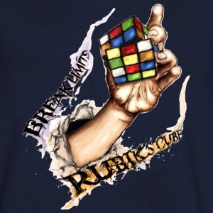 Rubik's Break Limits - T-skjorte med V-utsnitt for menn