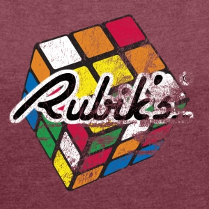 Rubik's Cube Distressed - Women's T-shirt with rolled up sleeves