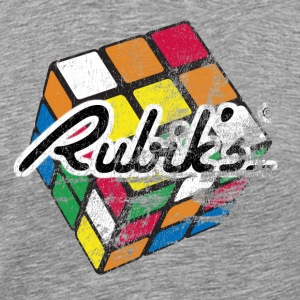 Rubik's Cube Distressed - Men's Premium T-Shirt