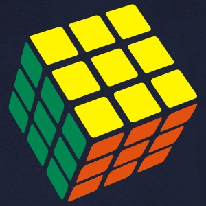 Rubik's Cube Solved - Men's V-Neck T-Shirt