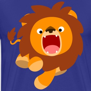 Cute Frisky Cartoon Lion by Cheerful Madness!! T-Shirts - Men's Premium T-Shirt