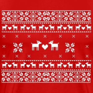 Xmas Pullover - ugly christmas sweater T-shirts - Premium-T-shirt herr