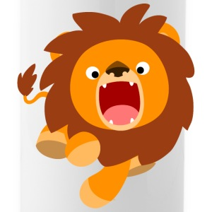 Cute Frisky Cartoon Lion by Cheerful Madness!! Mugs & Drinkware - Water Bottle