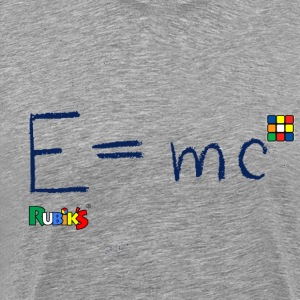 Rubik's E = mc Blue - Premium T-skjorte for menn