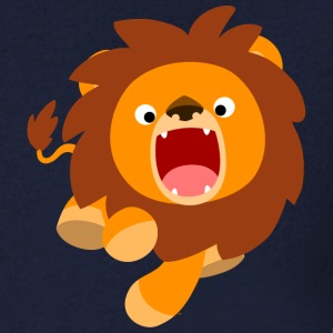 Cute Frisky Cartoon Lion by Cheerful Madness!! T-Shirts - Men's V-Neck T-Shirt