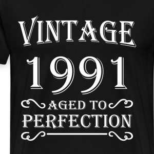 Vintage 1991 - Aged to perfection T-shirts - Mannen Premium T-shirt