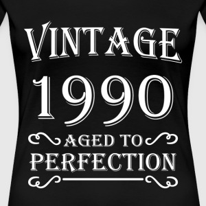 Vintage 1990 - Aged to perfection T-shirts - Premium-T-shirt dam