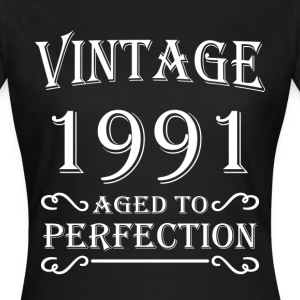 Vintage 1991 - Aged to perfection Camisetas - Camiseta mujer