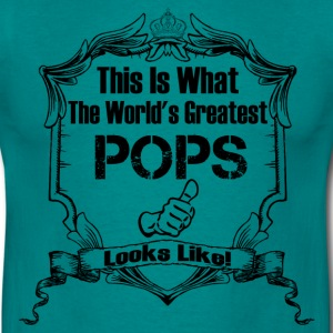 Worlds Greatest Pops Looks Like T-Shirts - Men's T-Shirt