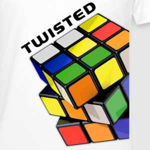 Rubik's Twisted Cube tilted - Men's Long Body Urban Tee