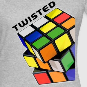 Rubik's Twisted Cube tilted - T-shirt dam