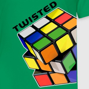 Rubik's Twisted Cube tilted - Premium T-skjorte for barn
