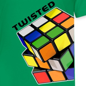 Rubik's Twisted Cube tilted - Premium-T-shirt barn