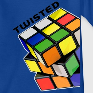 Rubik's Twisted Cube tilted - Kids' T-Shirt