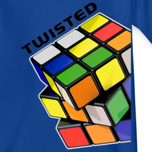 Rubik's Twisted Cube tilted - Kinderen T-shirt