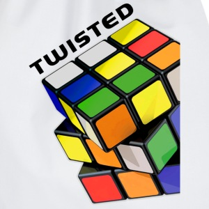 Rubik's Twisted Cube tilted - Drawstring Bag