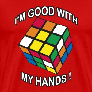 Rubik's I'm good with my Hands - Mannen Premium T-shirt