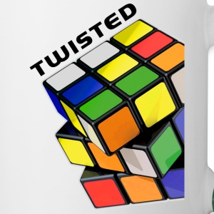 Rubik's Twisted Cube tilted - Kaksivärinen muki