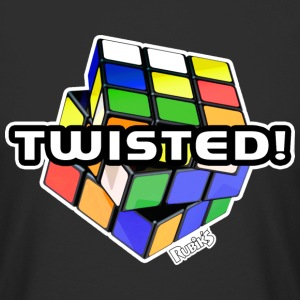 Rubik's Twisted! Cube Unsolved - Men's Long Body Urban Tee