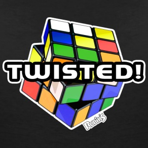 Rubik's Twisted! Cube Unsolved - Vrouwen T-shirt met V-hals