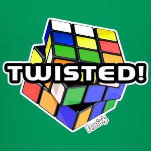 Rubik's Twisted! Cube Unsolved - Kinderen Premium T-shirt