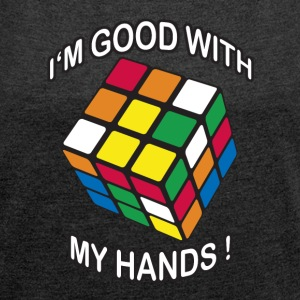 Rubik's I'm good with my Hands - T-shirt Femme à manches retroussées