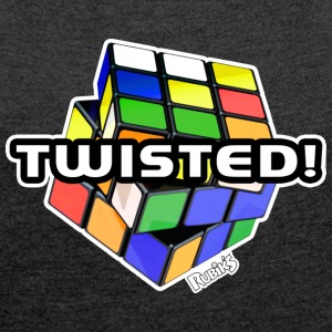 Rubik's Twisted! Cube Unsolved - Women's T-shirt with rolled up sleeves