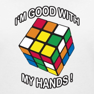 Rubik's I'm good with my Hands - T-shirt col V Femme
