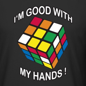 Rubik's I'm good with my Hands - Urban lang T-skjorte for menn