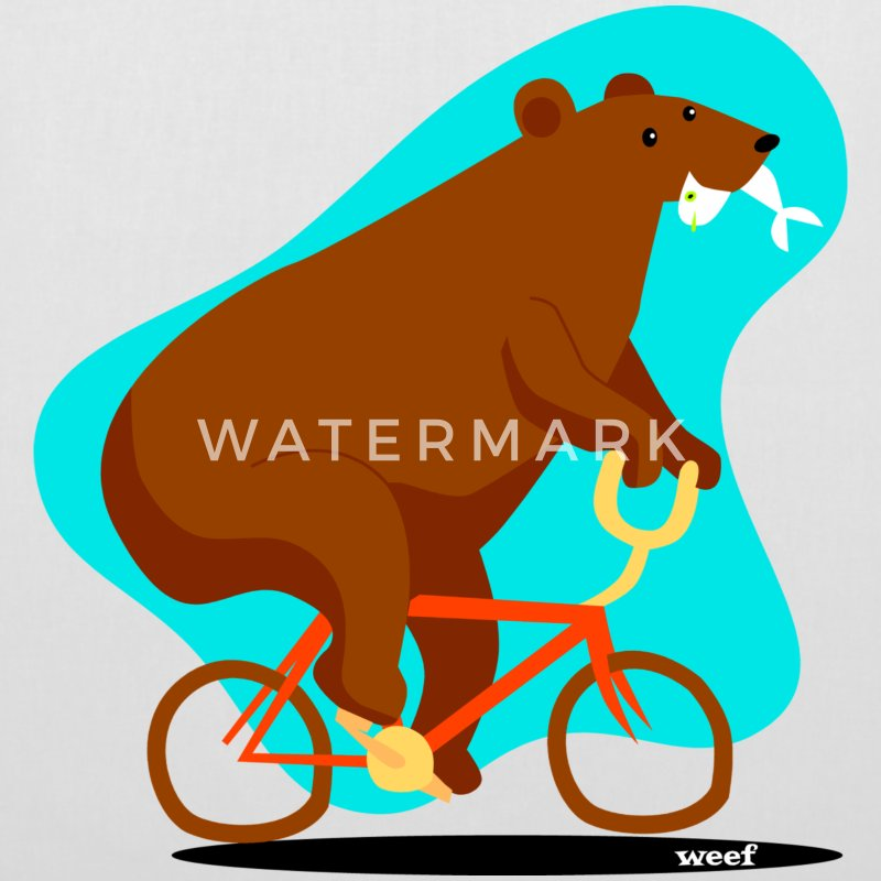 Bear on a bike - Tote Bag