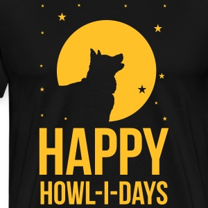 Holidays with a dog: Happy howl-i-days T-Shirts - Männer Premium T-Shirt