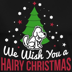 We wish you a hairy christmas T-shirts - Herre premium T-shirt