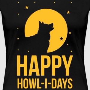 Holidays with a dog: Happy howl-i-days T-Shirts - Frauen Premium T-Shirt