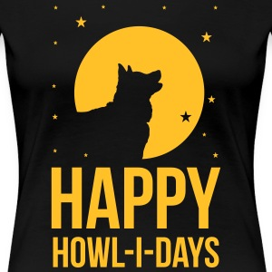 Holidays with a dog: Happy howl-i-days T-Shirts - Women's Premium T-Shirt