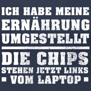Links vom Laptop T-Shirts - Frauen Premium T-Shirt
