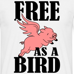 Free as a bird - T-shirt herr