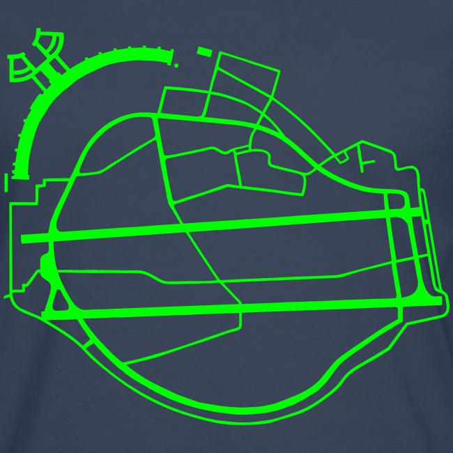 Tempelhofer Feld Berlin (neon grün)