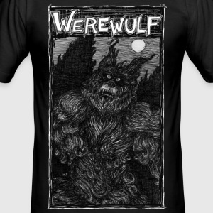 Werewulf, the wolf and man, T-Shirts - Men's Slim Fit T-Shirt