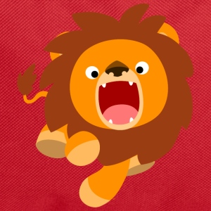 Cute Frisky Cartoon Lion by Cheerful Madness!! Bags & Backpacks - Backpack