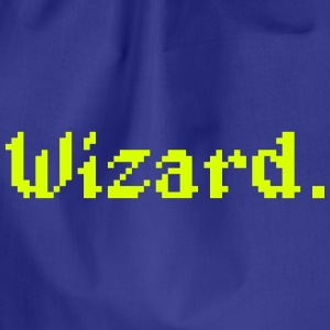 8 Bit Wizard Gamer Bags & Backpacks - Drawstring Bag