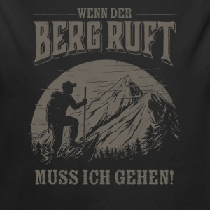 Mountain is calling - Der Berg ruft RAHMENLOS Geschenk Outdoor Sports 13 FS02 Baby Bodys - Baby Bio-Langarm-Body
