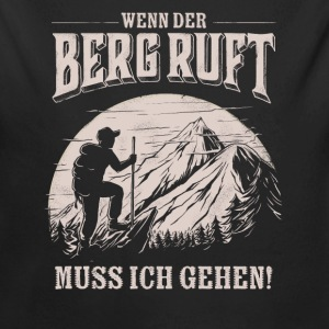 Mountain is calling - Der Berg ruft RAHMENLOS Geschenk Outdoor Sports 13 FS01 Baby Bodys - Baby Bio-Langarm-Body