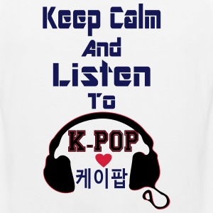 ♥♫Keep Calm&Listen to KPop Men's Tank Top♪ - Men's Premium Tank Top