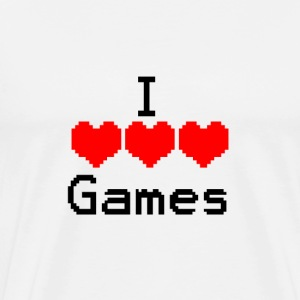 I love Games - Männer Premium T-Shirt
