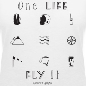 one Life, Fly It - T-shirt col V Femme