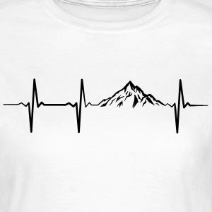 Heartbeat Mountains Camisetas - Camiseta mujer