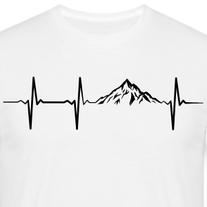Heartbeat Mountains T-Shirts - Men's T-Shirt